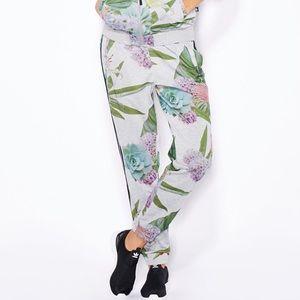Adidas | Floral Succulent Print Joggers